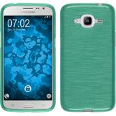 Coque en Silicone pour Samsung Galaxy J2 (2016) brushed vert