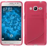 Coque en Silicone pour Samsung Galaxy J2 (2016) S-Style rose chaud