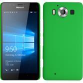 Coque Rigide pour Microsoft Lumia 950 gommée vert