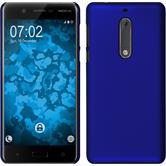 Coque Rigide pour Nokia 5 gommée bleu