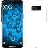 Coque Rigide Galaxy S8 Plus gommée blanc