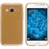 Silicone Case for Samsung Galaxy Core Prime Iced gold