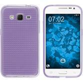 Silicone Case for Samsung Galaxy Core Prime Iced purple