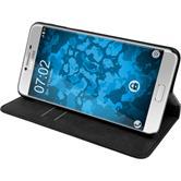 Couverture en cuir artificiel Samsung Galaxy C7 - Bookstyle noir + films de protection