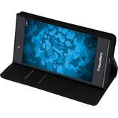 Cubierta de cuero artificial para BlackBerry Leap Bookstyle negro