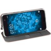 Cubierta de cuero artificial para HTC 10  oro rosa + protector de pantalla