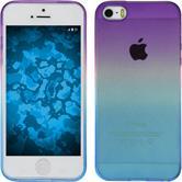 Custodia in Silicone per Apple iPhone 5 / 5s Ombrè Design:04