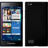 Custodia in Silicone per BlackBerry Leap S-Style nero