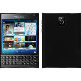 Custodia in Silicone per BlackBerry Q30 trasparente nero