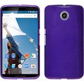 Custodia in Silicone per Google Motorola Nexus 6 brushed porpora