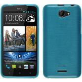 Custodia in Silicone per HTC Desire 516 brushed blu