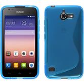 Custodia in Silicone per Huawei Ascend Y550 S-Style blu