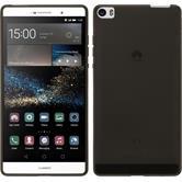 Custodia in Silicone per Huawei P8max trasparente nero