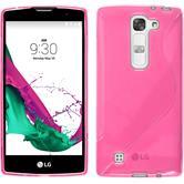 Custodia in Silicone per LG Magna S-Style rosa caldo