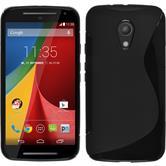 Custodia in Silicone per Motorola Moto G 2014 2. Generation S-Style nero