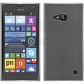 Custodia in Silicone per Nokia Lumia 730 trasparente bianco