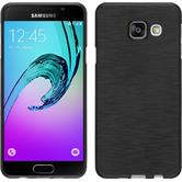Custodia in Silicone per Samsung Galaxy A3 (2016) brushed argento