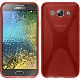 Custodia in Silicone per Samsung Galaxy E5 X-Style rosso