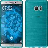 Custodia in Silicone per Samsung Galaxy Note 7 brushed blu