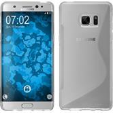 Custodia in Silicone per Samsung Galaxy Note 7 S-Style trasparente