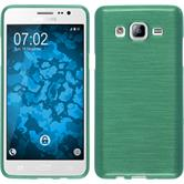 Custodia in Silicone per Samsung Galaxy On5 brushed verde