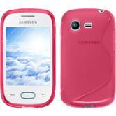 Custodia in Silicone per Samsung Galaxy Pocket Neo S-Style rosa caldo