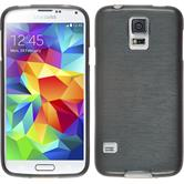 Custodia in Silicone per Samsung Galaxy S5 Neo brushed argento