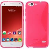 Custodia in Silicone per ZTE Blade S6 S-Style rosa caldo