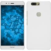 Custodia Rigida per Huawei Honor V8 gommata bianco