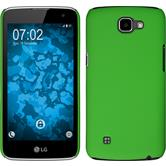 Custodia Rigida per LG K4 gommata verde