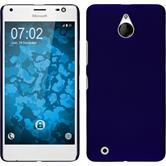 Custodia Rigida per Microsoft Lumia 850 gommata blu