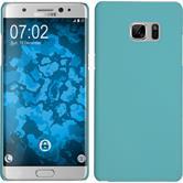 Custodia Rigida per Samsung Galaxy Note 7 gommata azzurro