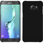 Custodia Rigida per Samsung Galaxy S6 Edge Plus gommata nero