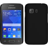 Custodia Rigida per Samsung Galaxy Young 2 gommata nero