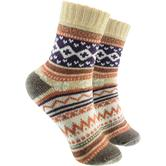 1 Paar Socken in Norweger Design beige (33 – 40)