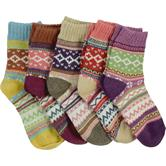 cosey - Set of 5 Men's and women's cotton socks - Norwegian Design