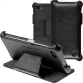 Echt-Lederhülle Xperia Z5 Compact Leder-Case schwarz + Glasfolie