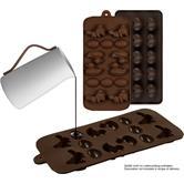2er Set Silikon-Pralinenformen (Herz und Enten) - Silikonform (BPA-frei) für Schokolade