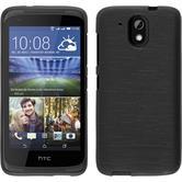 Funda de silicona para HTC Desire 326G brushed plata