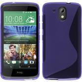Funda de silicona para HTC Desire 526G+ S-Style púrpura