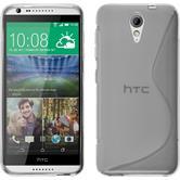 Funda de silicona para HTC Desire 620 S-Style transparente