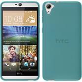 Funda de silicona para HTC Desire 826 transparente turquesa