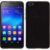 Funda de silicona para Huawei Honor 6 transparente negro
