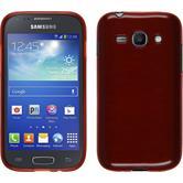 Funda de silicona para Samsung Galaxy Ace 3 brushed rojo