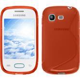 Funda de silicona para Samsung Galaxy Pocket Neo S-Style rojo