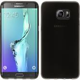 Funda de silicona para Samsung Galaxy S6 Edge Plus transparente negro