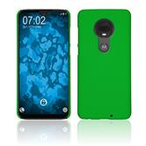 Hardcase Moto G7 Plus rubberized green Cover