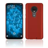 Hardcase Moto G7 Plus rubberized red Cover