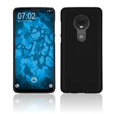 Hardcase Moto G7 Plus rubberized black Cover
