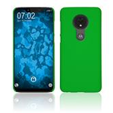 Hardcase Moto G7 Power rubberized green Cover